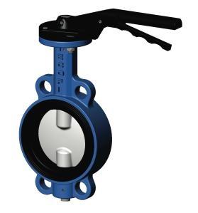 Затвор дисковый поворотный Tecofi, чугунный диск хромированный PN16 DN125мм
